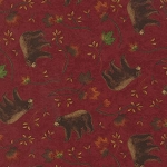 Turning Leaves 6572 13 Bears Burgundy, Holly Taylor by Moda