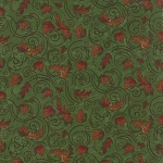 Turning Leaves 6574 11 Mini Leaves Light Green, Holly Taylor by Moda