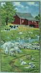 Spring Ahead 68797 715 Farm Scene Panel, Wilmington Prints