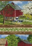 Spring Ahead 68798 723 Farm Border Print, Wilmington Prints