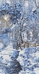 Winter C4629 Winter Large Scale Winter Scene, Timeless Treasures