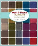 Wool Needle VI Flannel Layer Cake, Primitive Gatherings by Moda