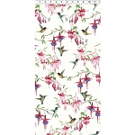 Fuchsias and Hummingbirds Y2354 1 White, Clothworks