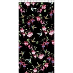 Fuchsias and Hummingbirds Y2354 3 Black, Clothworks