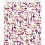 Fuchsias and Hummingbirds Y2355 1 White, Clothworks