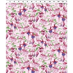 Fuchsias and Hummingbirds Y2355 41 Pink, Clothworks