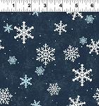 Quilt Minnesota 2021 Y3321 53 Navy Blue Snowflakes Clothworks