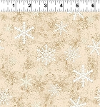 Quilt Minnesota 2021 Y3321 64 Light Caramel Snowflakes Clothworks