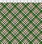 Quilt Minnesota 2021 Y3322 21 Green Diagonal Plaid Clothworks