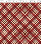 Quilt Minnesota 2021 Y3322 4 Light Red Diagonal Plaid Clothworks