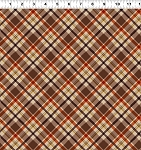 Quilt Minnesota 2021 Y3322 66 Dark Caramel Plaid Clothworks