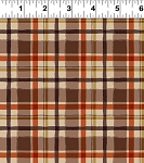 Quilt Minnesota 2021 Y3324 4 Dark Caramel FLANNEL Plaid Clothworks