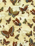 Zen CM5109 Cream Butterflies, Timeless Treasures