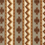 Timber Lodge Flannel 14475 169 Earth Aztec Stripe, Kaufman