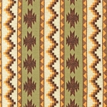 Timber Lodge Flannel 14475 44 Forest Aztec Stripe, Kaufman