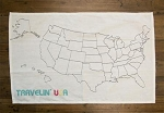 USA Map Cotton Towel