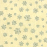 Winter Forest Flannel 6604 21F Cream/Green Snowflakes, Holly Taylor by Moda