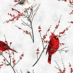 Winters Sky R7682 113S Frost Silver Cardinals, Hoffman