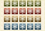 Wonder of Winter Flannel F3004 Z Snowflake Blocks, Maywood Studio