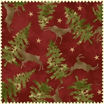 Wonder of Winter Flannel F3005 R Red Deer Trees, Maywood Studio
