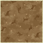 Wonder of Winter Flannel F3006 A Tan Tonal Deer, Maywood Studio