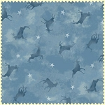 Wonder of Winter Flannel F3006 B Blue Tonal Deer, Maywood Studio
