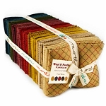Wool and Needle III Flannel Fat Quarter Bundle, Primitive Gatherings by Moda