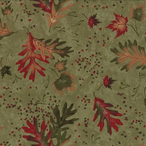 Trails End 6493 15 Lichen Large Maple Oak Leaves, Holly Taylor Moda
