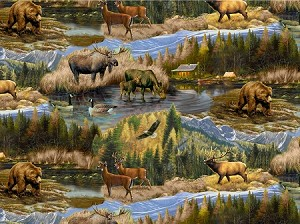 Realtree 10085 Scenic Woods Animals, Print Concepts