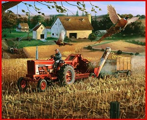 Farming 10087 Farmall Farm Scene Panel Print Concepts