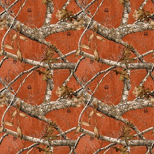 Realtree Allover Camo Pattern 10348 Burnt Orange