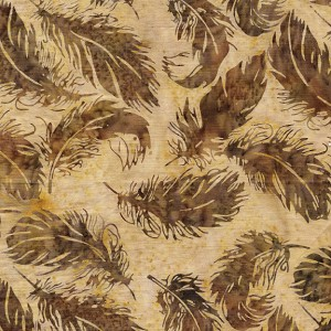 Mesa Verde 121922082 Tossed Feather Coffee Island Batiks