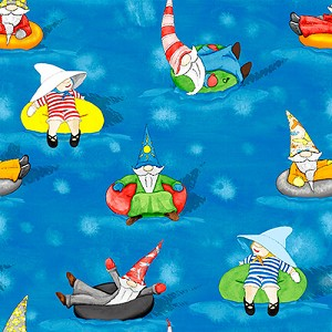 Hangin With My Gnomies 1446 75 Blue Waterpark Blank Quilting