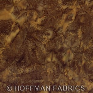 Hoffman Bali Batik Hand dyed Watercolors 1895 555 Bison