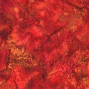 Hoffman Bali Batik Hand dyed Watercolors 1895 381 Pomegranate