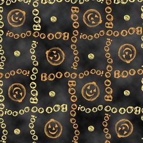Charmed 23885 J Boo Grid Black, Quilting Treasures