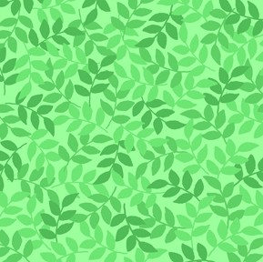 Harmony Leaf 24777 G Spring Green Quilting Treasures