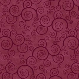 Harmony Curly Scroll 24778 DM Sangria Quilting Treasures