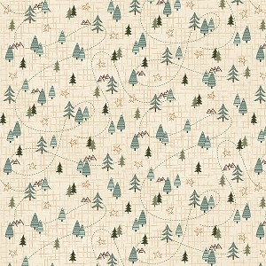 Folk Art 4 Flannel 2586F 33 Trees Forest Henry Glass