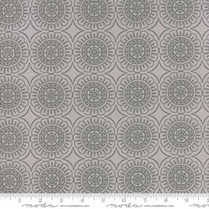 Pepper and Flax 29044 22 Floral Medallion Grey, Corey Yoder by Moda
