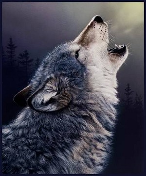 Wolf Digital Panel 51567P X, Windham Fabrics