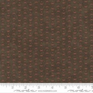 Endangered Sanctuary Flannel 6657 18F Walnut Cross Dot, Holly Taylor by Moda