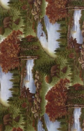 Return to Cub Lake Flannel 6740 12F Scenic Chestnut, Holly Taylor by Moda
