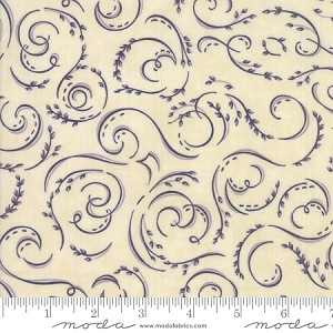 Fresh Off the Vine 6763 21 Swirls Purple Cream, Holly Taylor by Moda