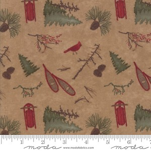 Frosted Flannels 6781 17F Park Dark Tan, Holly Taylor by Moda