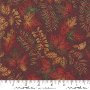 Country Charm 6791 16 Leaves Rustic Red, Holly Taylor by Moda