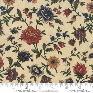 Through the Years 9620 11 Tan Floral Kansas Troubles Moda