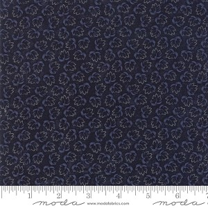 Through the Years 9623 14 Navy Tonal Leaf Kansas Troubles Moda