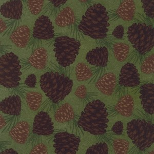 Timber Lodge Flannel 12619 268 Nature Pine Cones, Kaufman