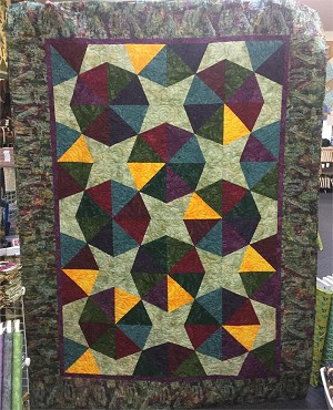 Borneo Lift Bridge Quilt Kit, Exclusive MN Charm Batik